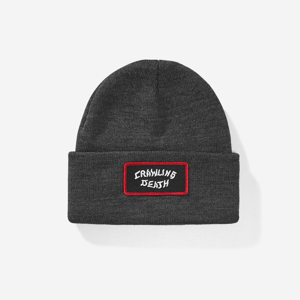 Crawling Death Embroidered Logo Patch Beanie - Grey