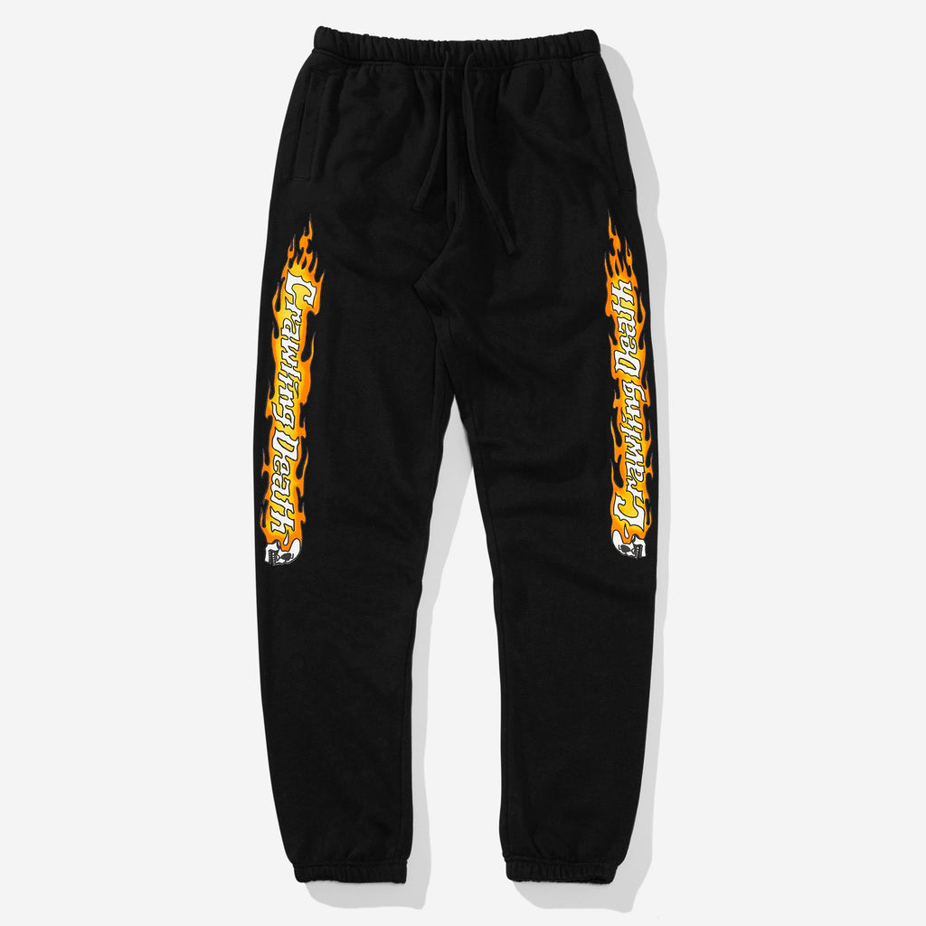 Crawling Death Fleece Sweatpants - Black