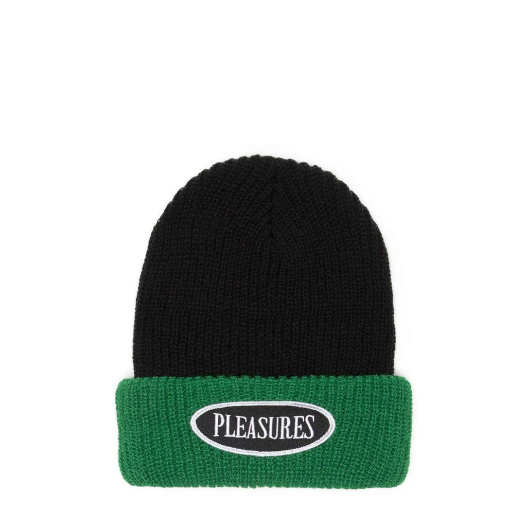 Pleasures Logo Two Tone Beanie - Black/Green