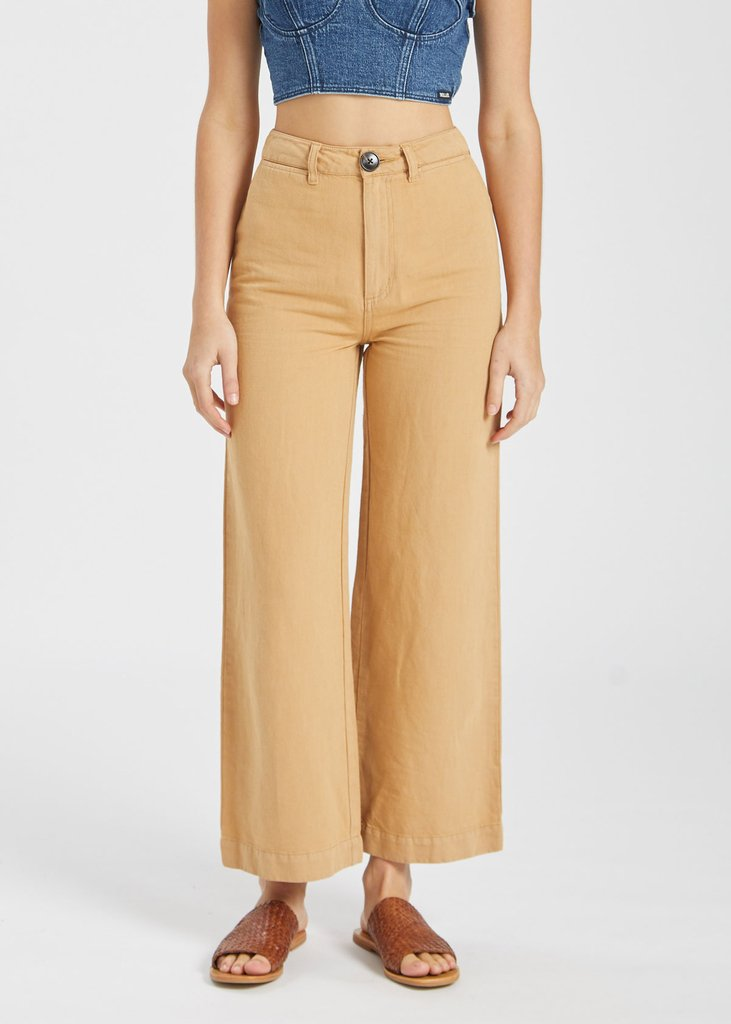 Rollas Old Mate Linen Pant - Gold