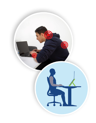 Correct Sitting Posture while using your Computer workstation