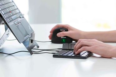 R-Go Tools Premium Ergonomic Mouse and Keyboard and Adjustable Laptop Stand Set