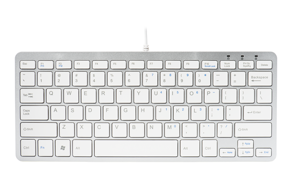 R-Go Tools Ergonomic Compact Keyboard, QWERTY (US), wired