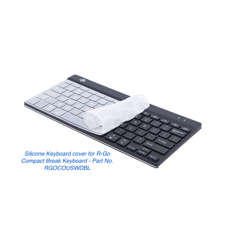 R-Go Tools Compact Slim Ergonomic Keyboard with Break Function and Washable Silicone Cover