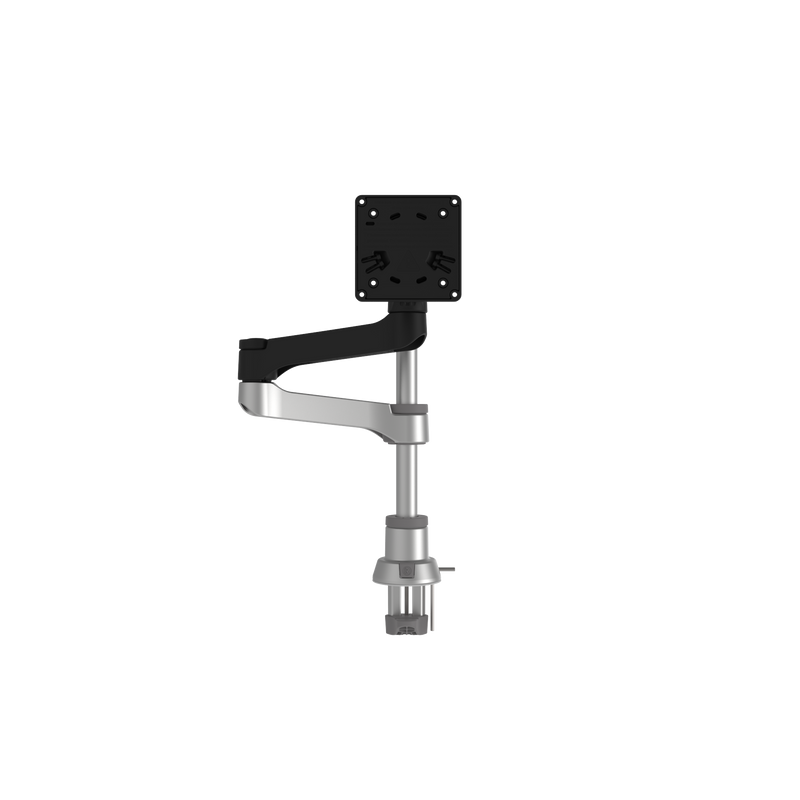 R-Go Zepher 4 C2 Circular Single Monitor Arm Desk Mount, Adjustable, Black-Silver