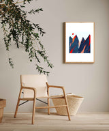 Funky Mountains Poster