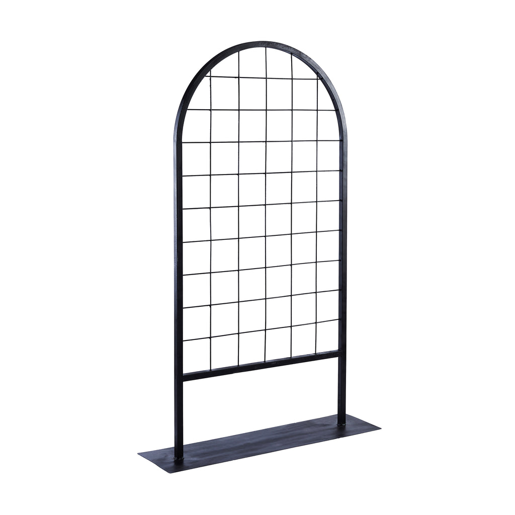 Black Mesh Curved Panel