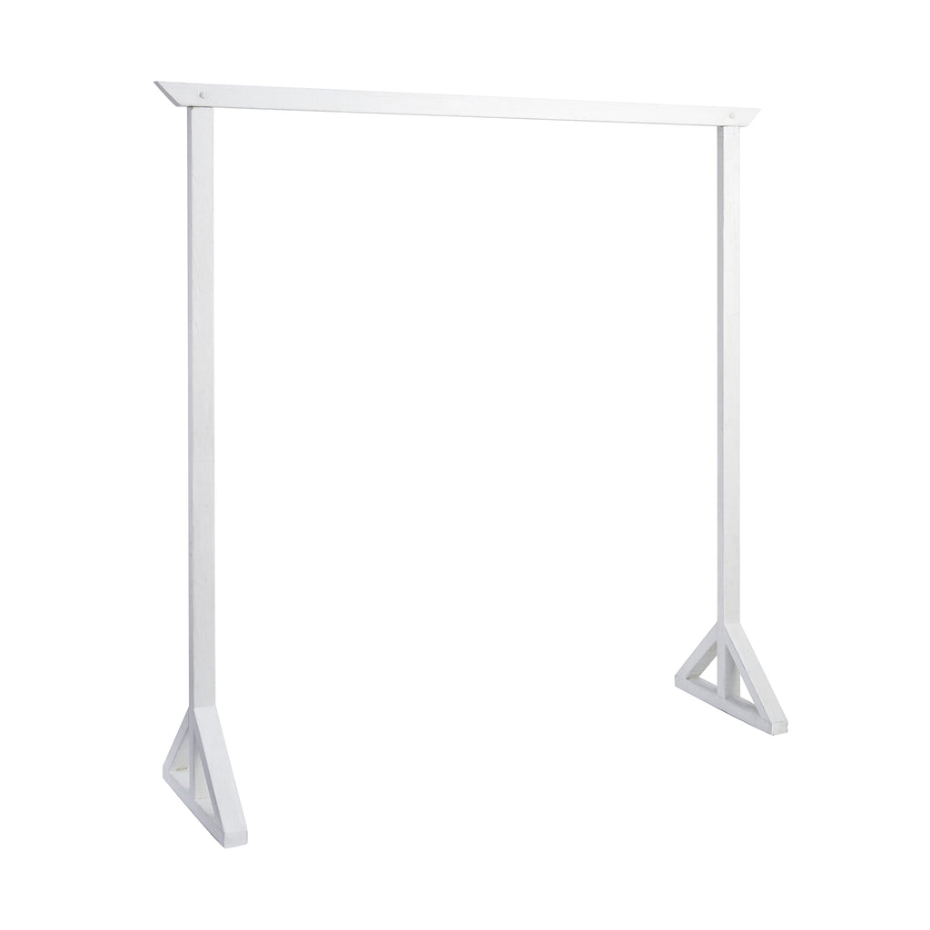 White Single Arbour