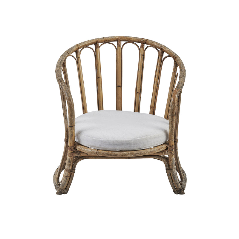 Cane Arm Chair Natural Linen