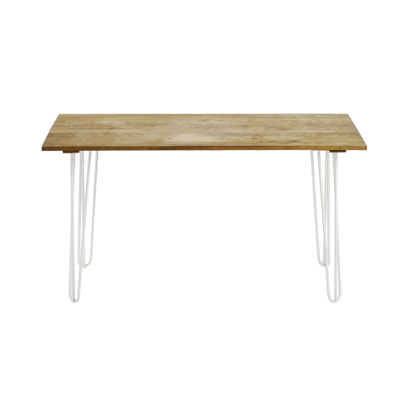 White Hairpin Leg Wooden Console