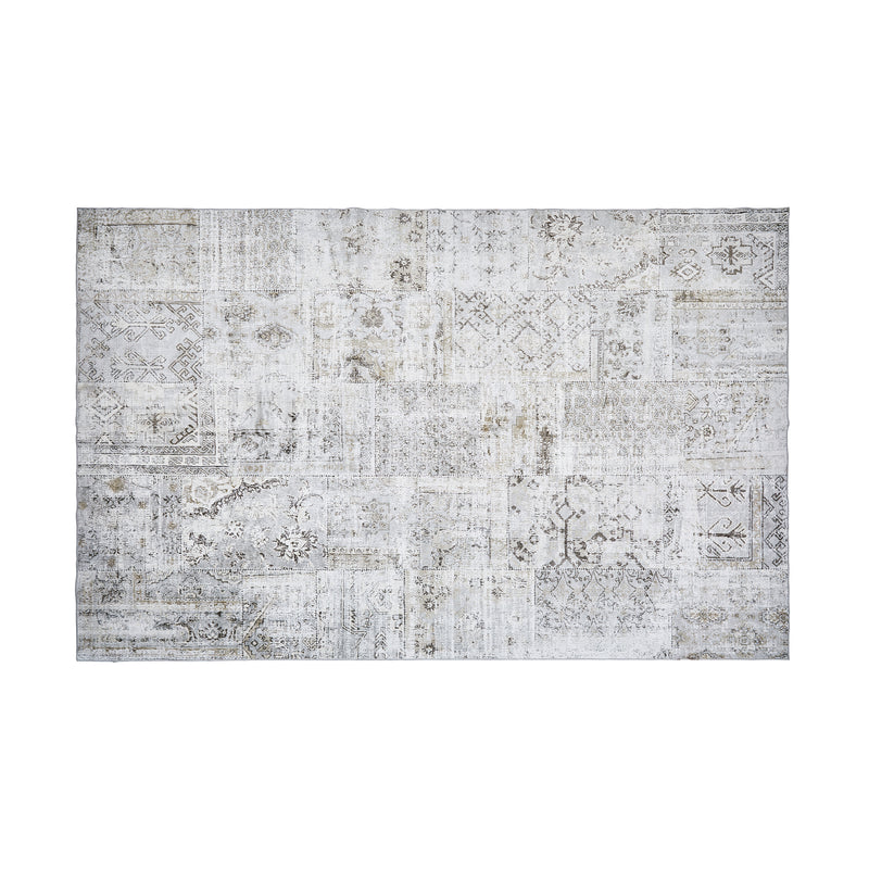 Extra Large Grey Persian Patchwork Rug