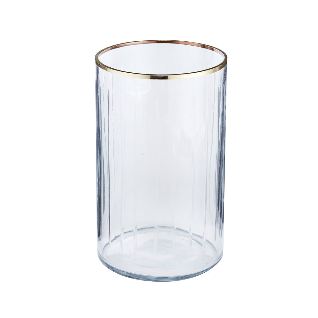 Gold Rim Crystal Vase