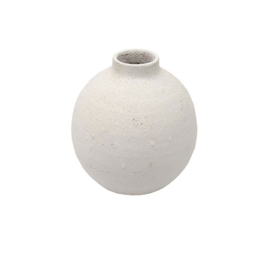 White Textured Stem Vessel