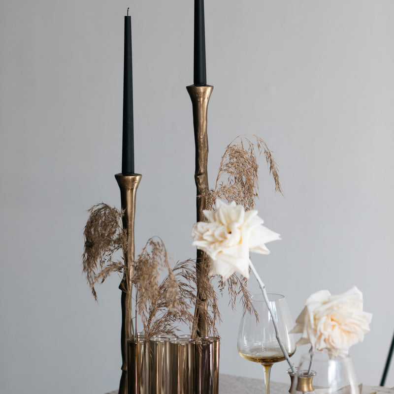 Smokey Gold Tube Vase