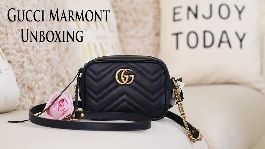 71eaaad26 Gucci - GG Marmont Camera Small Quilted Leather Shoulder Bag - Black