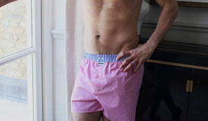 Chalfin designer boxer shorts - model wearing Dean