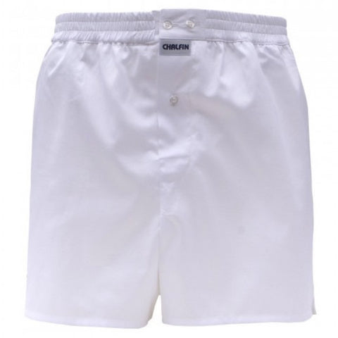 White Law Boxer Shorts - made in the UK by Chalfin