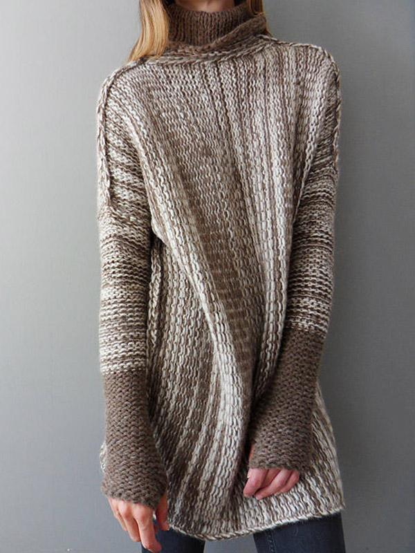 Fashion High-neck Knitting Sweater Tops