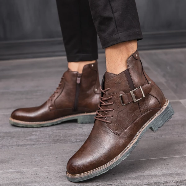 Men's Waterproof Vintage Ankle Leather Boots