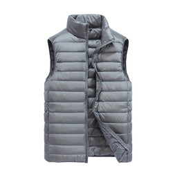 Men's Sleeveless Ultralight 90% White Duck Down Warm Vest Men's Casual Vest Warm Jacket Outwear Waistcoat