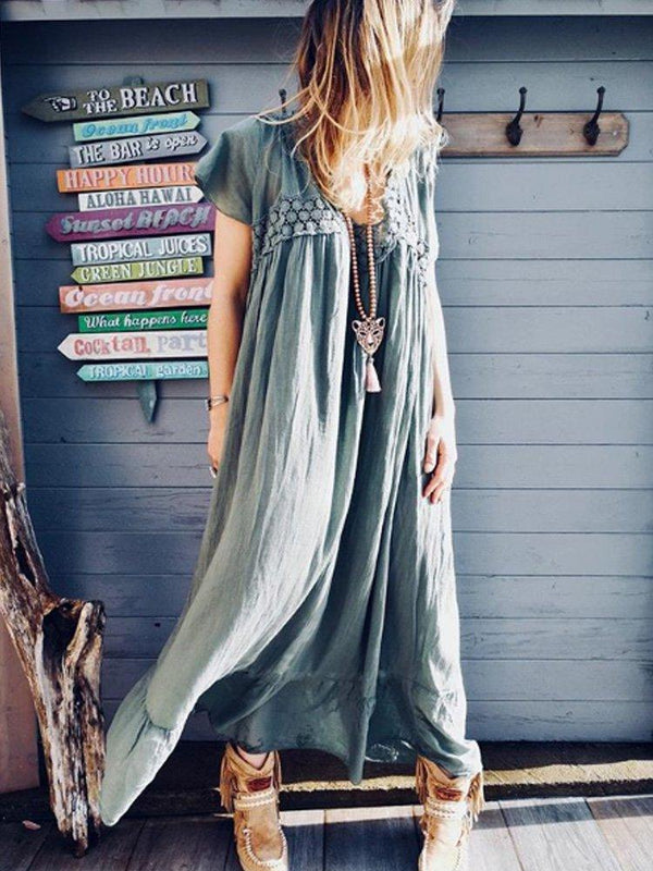 Vintage Big Hem Dress Casualdress