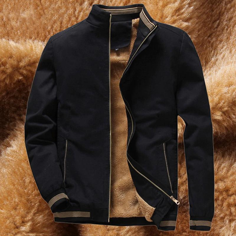 Men's Winter Jacket Men Warm Fleece Lining Coat Mens Jackets And Coats Male Windbreaker Black Casual Jacket Man BM260