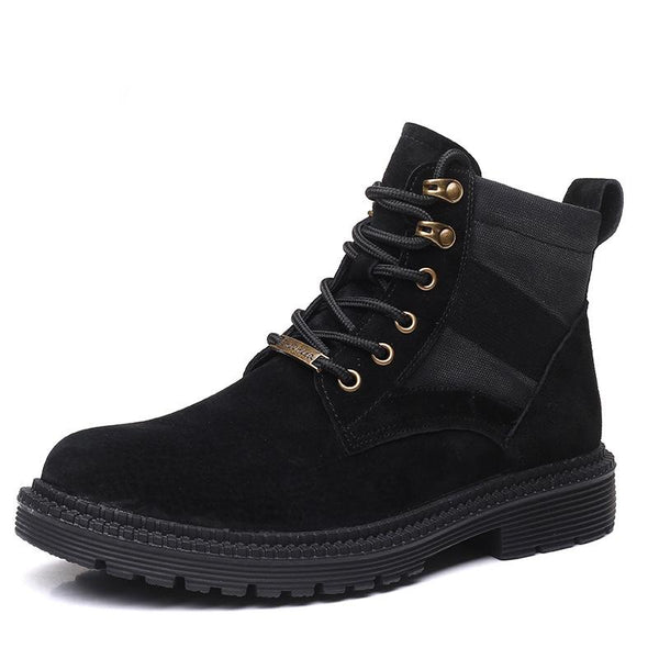 Autumn Martin boots men's British outdoor riding boots casual men's high-top shoes leather trendy brand men's boots