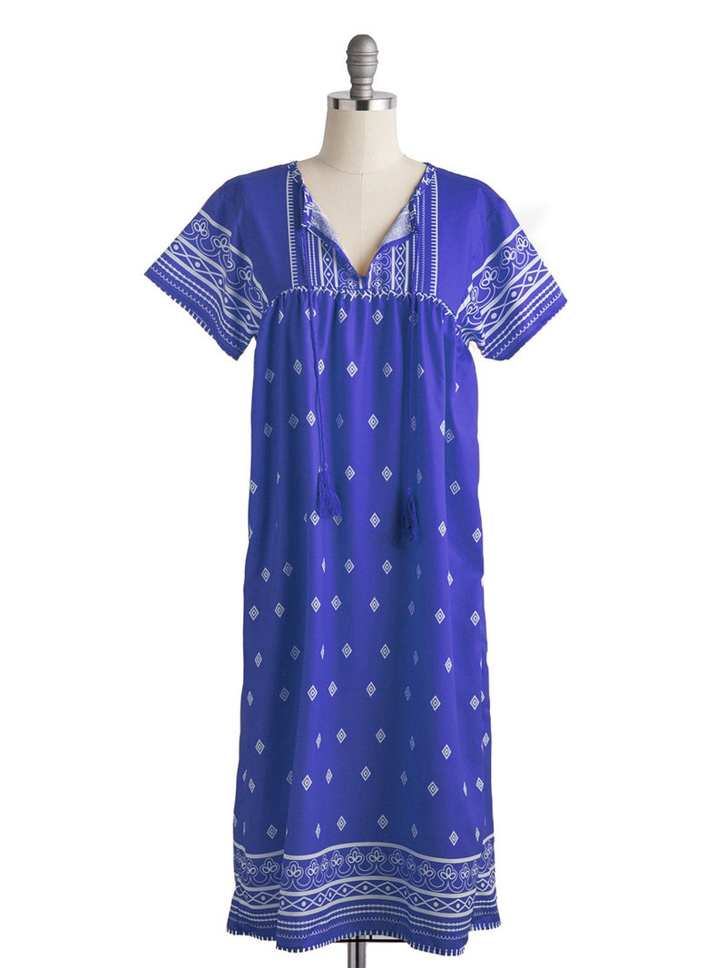 V Neck Short Sleeve Summer Dress