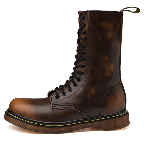 Autumn and winter all-match Martin boots high-top shoes men's Korean version of the trendy casual Gaobang sports waterproof non-slip retro boots