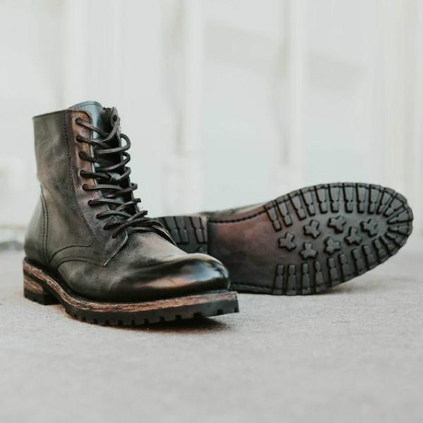 Men's Retro Leather Martin Shoes