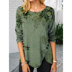 New Style Women's Wear Printed Long Sleeved Top