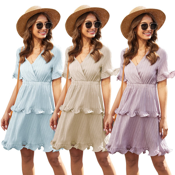 New Hot Women's Cake Pleated Dress