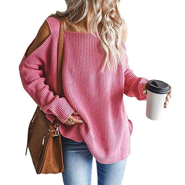 Knitted Sweater Best Selling Long Sleeve Plus Size Strapless Sweater