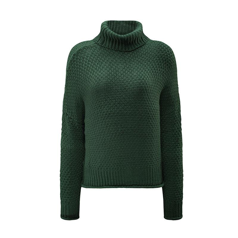 New Knitwear Solid Thick Wool Long-sleeved Sweater