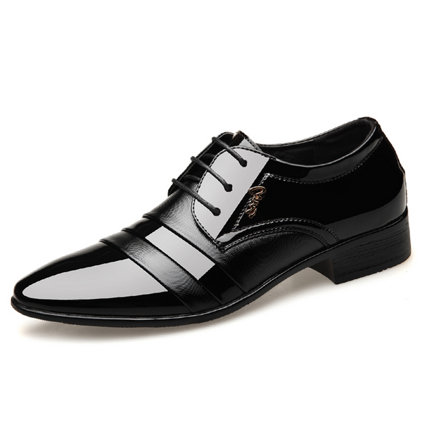 Business Oxfords Shoes Pointed Toe Wedding Shoes Leather British Lace-up Footwear