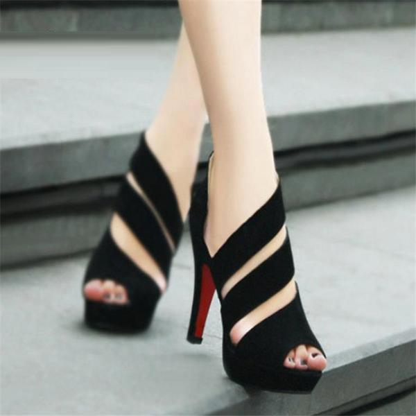 Women Summer Gladiator High Heels Peep Toe Sandals Shoes