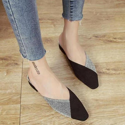 Women Mixed Colors Sandals Slippers Square Heel Medium Heels Sandals