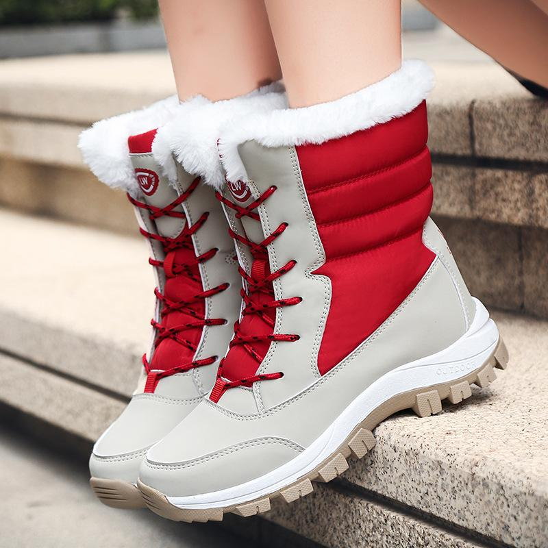 Winter Snow Boots Warm Plush Women's Shoes