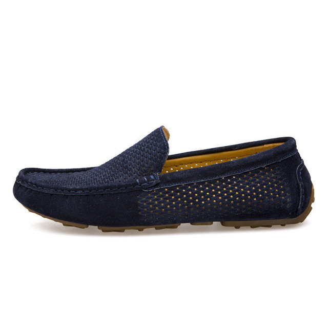 Slip On Driving Shoes Soft Moccasins Holes Comfort Light Mens Flats