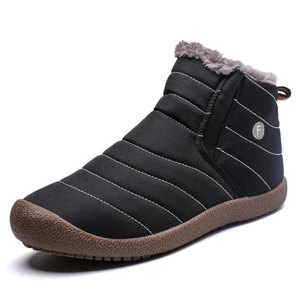 Men Plus Size Waterproof Winter Shoes Ankle Boots With Fur Snow Boots