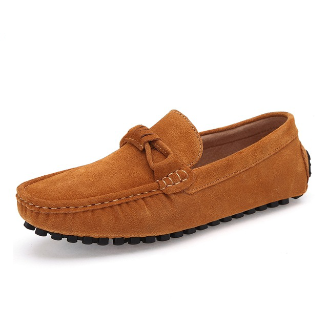 High Quality Cow Suede Men Casual Shoes Slip On Loafers Casual Male Shoes