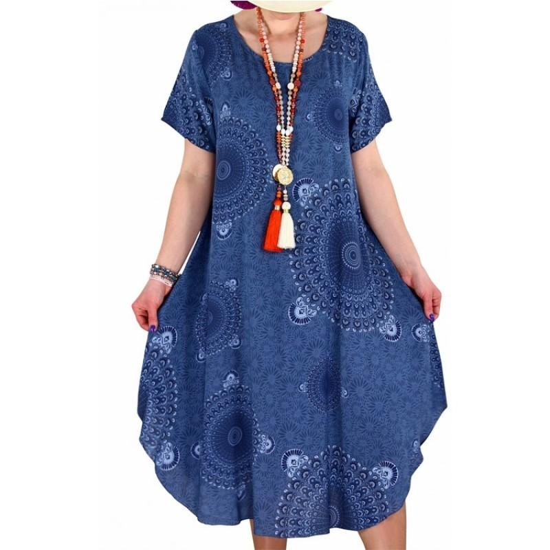 Irregular Dot Print Women's Short Sleeve Dress