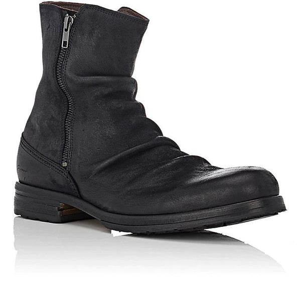 Men's Double Zipper Ankle Boots