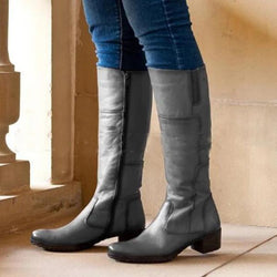 Vintage Winter Zipper Knee High Boots