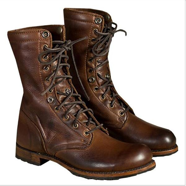 Autumn and Winter Men's Boots Shoes Boot Knight Boots