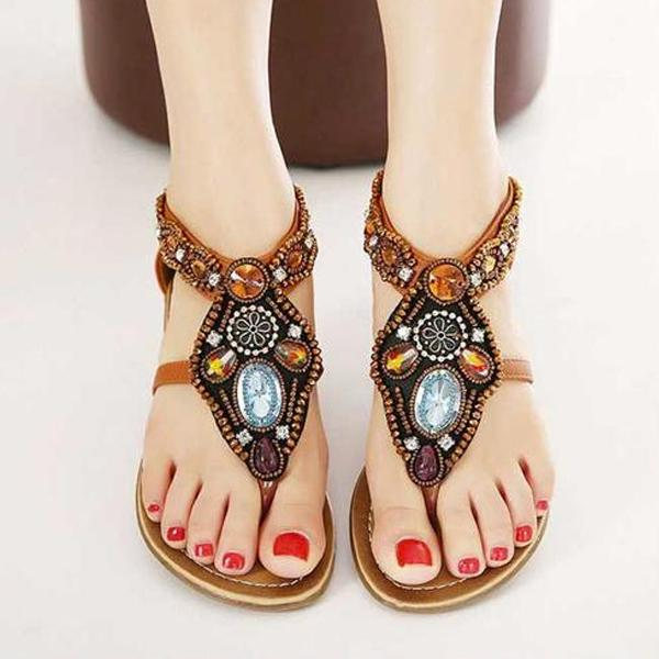 Women Bohemian Flat Sandals Flip-flops Beach Sandal Shoes