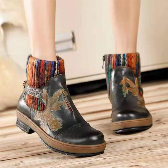 Women Low Heel Boots