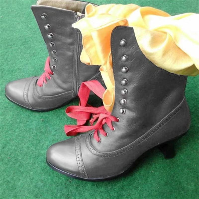 Casual Low Heel Zipper Pu Boots