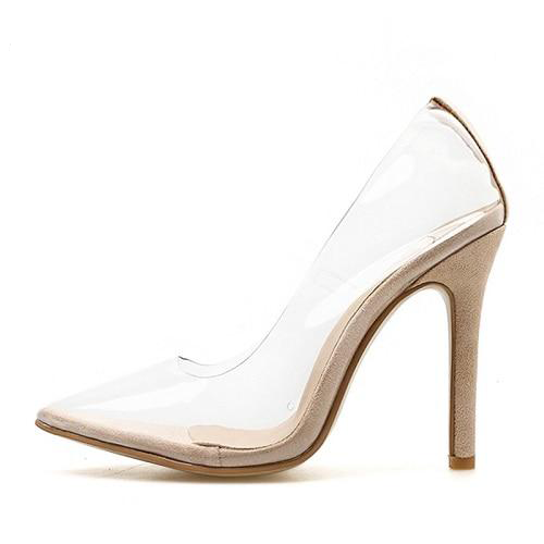 Transparent Super High Heels Sexy Pointed Toe Slip-on Wedding Party Shoes