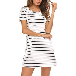 Women's Sexy Slim Cross Back Short-Sleeved Dress